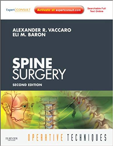 Operative Techniques Spine Surgery Book, Website and DVD (Expert Consult - Online and Print), 2e